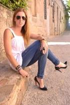 Christian Louboutin heels - Stradivarius jeans - Mango top