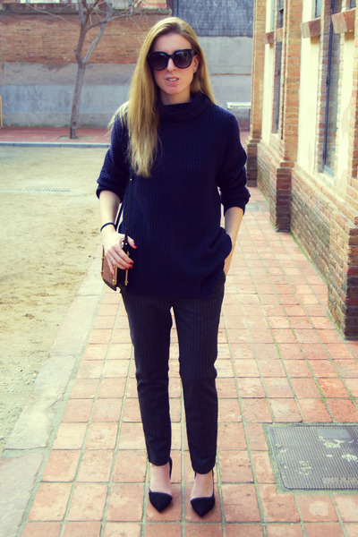 Zara sweater - Zara pants - Zara heels