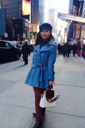 blue Zara coat
