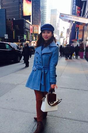 blue Zara coat