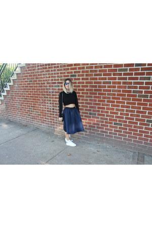 navy Style Mafia skirt - black Zara top
