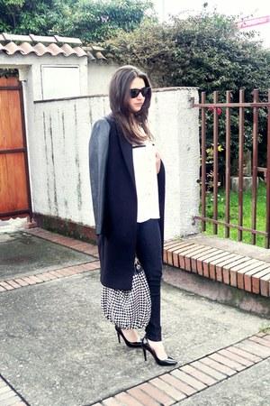 Zara coat - Zara blouse - Mango heels