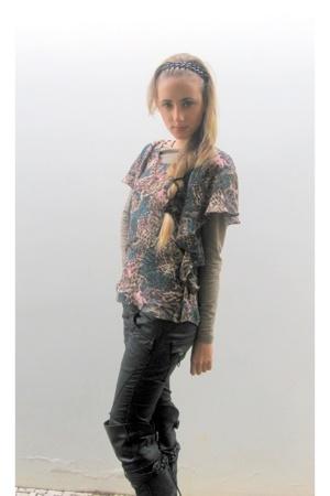 Zara pants - hm shirt - Zara boots