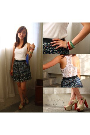 Forever 21 top - Jeffrey Campbell sandals - sm accessories bracelet