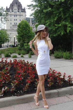 white Dynamite dress - H&M hat - Aldo necklace