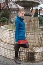 Deichmann boots - handmade sweater - vintage skirt