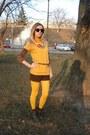 H-m-tights-pull-bear-shorts-h-m-sunglasses-zara-t-shirt-vintage-blouse
