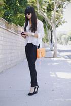 orange Rebecca Minkoff bag - black H&M jeans