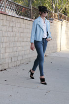 blue weekday jeans - sky blue leather Cheap Monday jacket