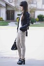 Tan-leopard-print-jeans-black-leather-jacket-white-u-back-tank-shirt