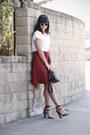 Brick-red-zara-skirt
