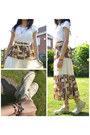 White-basic-esprit-t-shirt-eggshell-topshop-belt-brown-peasant-skirt