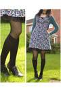 Navy-floral-new-look-dress-black-spotty-new-look-tights