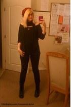 black Diba boots - black used as a top American Apparel dress