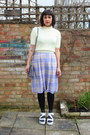 light purple midi checks Primark skirt - navy sparkly George At Asda socks