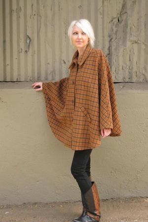brown Eddie Bauer coat - black Judi Rosen jeans - black Bandolino boots