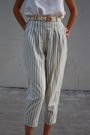 White-vintage-top-blue-vintage-pants-red-charles-jourdan-shoes