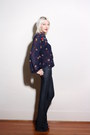 Navy-bell-bottom-paige-jeans-navy-pleated-paisley-vintage-blouse-brown-cynth
