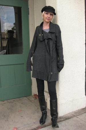gray Cynthia Vincent Twelfth St sweater - gray American Apparel shirt - black Fo