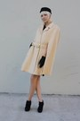 Cream-vintage-coat-black-vintage-dress-black-forever-21-shoes-black-h-m-ha