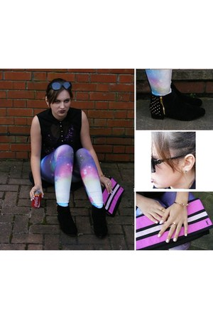 both the tops River Island top - Topshop boots - romwe leggings