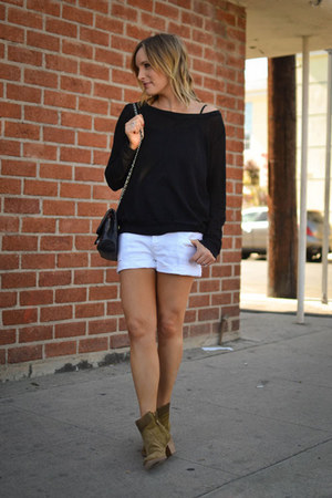 ankle Aerin boots - Paige shorts - Michael Stars top