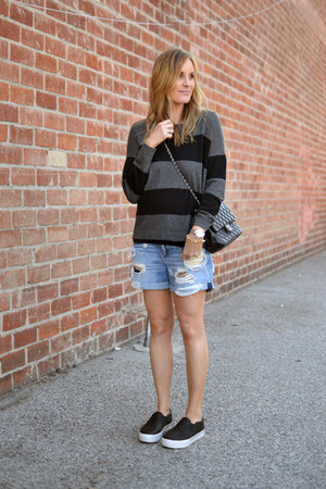 Forever 21 sweater - rag & bone shorts - ASH sneakers