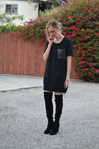 black stuart weitzman boots - black rag & bone dress