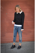 oxfords ASH shoes - boyfriend citizens of humanity jeans - Joie sweater