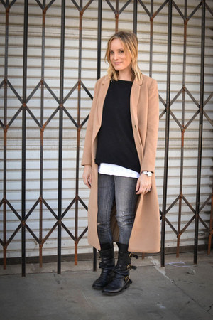 360 Sweater sweater - fiorentini and baker boots - Forever 21 coat