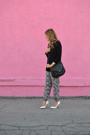 H&M sweater - Cuore & Pelle bag - Forever 21 pants - Nine West heels