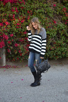 motorcycle Fiorentini baker boots - rag & bone jeans