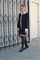 black stuart weitzman boots - black madewell dress