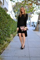 black Kain Label dress - Zara bag - black Miu Miu heels