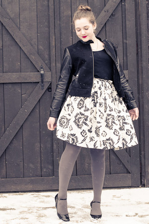 vintage skirt - H&M jacket