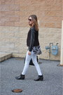 Leather-unisa-boots-white-old-navy-jeans-leather-loft-blazer