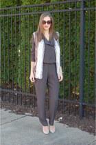 heather gray faux fur asos vest - charcoal gray ASTR jumper