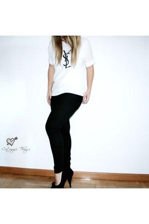 white chiffon OASAP t-shirt