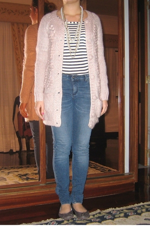 Zara shirt - Zara jeans - H&M cardigan - BLANCO accessories