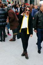 Zara bag - Prof boots - H&M blazer - Primark sunglasses - Zara top - Zara pants