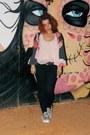 Black-zara-jeans-silver-aliexpress-sandals-light-pink-primark-top