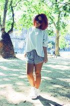 H&M shorts - Aliexpress boots - H&M cardigan
