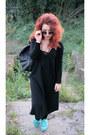 Black-h-m-dress-black-primark-bag-charcoal-gray-c-a-sunglasses