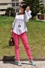 Pink-prada-sunglasses-hot-pink-zara-jeans-dark-brown-louis-vuitton-bag