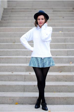 black and white Skirt skirt - skirt Bershka skirt - black skirt
