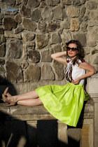 neon midi Sheinsidecom skirt