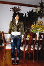Gold-forever-21-jacket-gold-versace-belt-blue-giordano-pants-blue-forever-