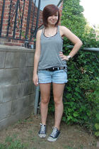 Target t-shirt - random from my sister t-shirt - old belt - cutoffs shorts - Con