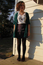 green silence and noise cardigan - white American Apparel t-shirt - gray H&M ski