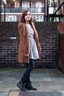 Black-doc-martens-boots-periwinkle-asos-dress-brown-modcloth-coat